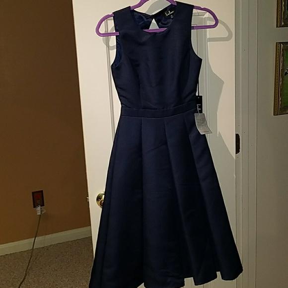 Lulu's Dresses & Skirts - LuLus Pasa doble take high low dress XS navy